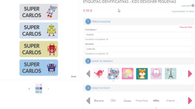 Etiquetas Identificativas - Kids Designer- Etiquetas para el  colegio _ Stuck on